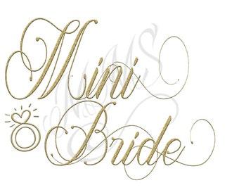 Mini Bride Bridal Party Script Gold Custom DIY Digital Design Art File T-Shirt Top Bachelorette Bridal Party Bridesmaid