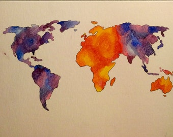 Hand-painted World Map