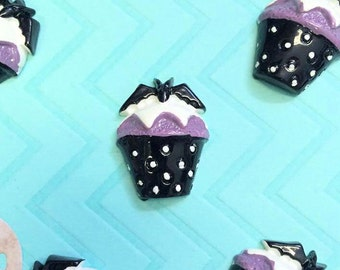 Goth Cupcake Cabochons