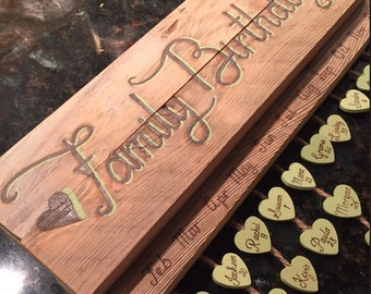 Family Birthdays Plaque (distressed/natural wood)