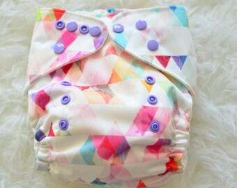 Pretty Pennants One Size Pocket Cloth Diaper