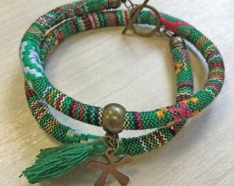 Ethnic bracelet Green