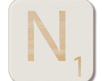 """Letter """"N"""" wood Scrabble"""