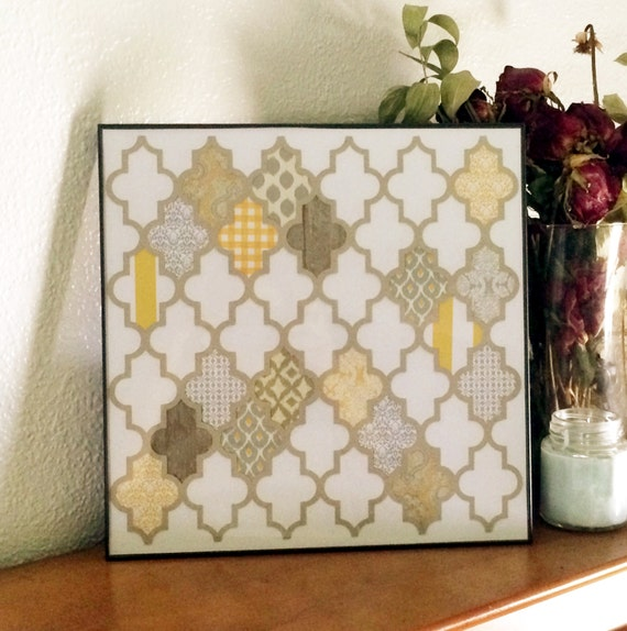 Paper Bag Wall Decor : Geometric wall decor paper craft art by ozarkhomedecor