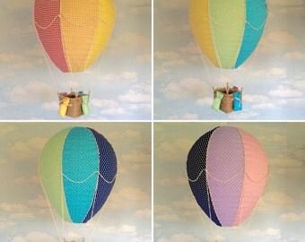 Rainbow hot air balloon light shade