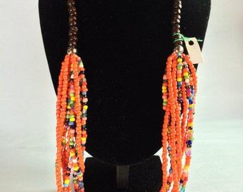 Beaded Necklace, Multi strand Necklace
