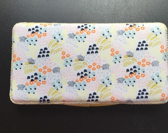 Floral handmade baby wipe case