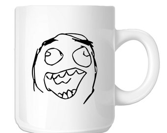 Funny Laughing Meme Face (SP-00036) 11 OZ Novelty Coffee Mug