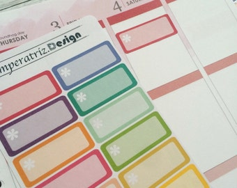 Little flower boxes; Planner Sticker for eclp, filofax,ppp