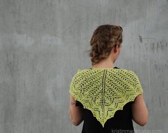 Beautiful hand knit shawlette