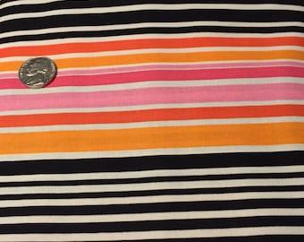 "windham fabrics, ""FEELING GROOVY"", Pink,Black, Orange"