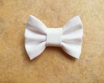 MINI White Bow, baby headband, baby hair clip, baby girl, girl toddler, hair bow, baby gift
