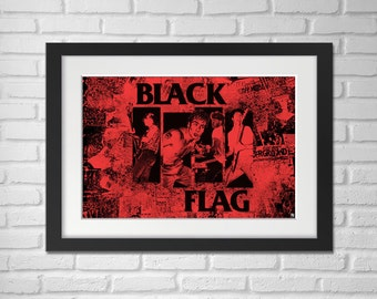 Black Flag Poster Illustration / Black Flag Print / Black Flag / Henry Rollins