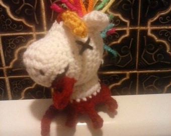 Severed Unicorn Head Amigurumi