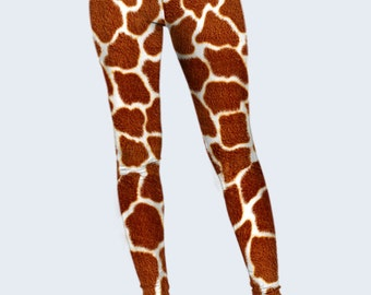 Giraffe Leggings, Brown Leggings, Leggings for Women, Spots Leggings, Leggings with Animal Print
