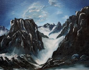Oil Painting Prints,Mountain Pass