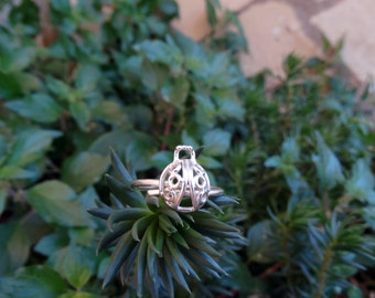 Silver ring / ring Ladybug / Adjustable ring / Ladybird / Silver ring / Ladybug ring /Adjusted rings / Ladybug / Sterling silver rings