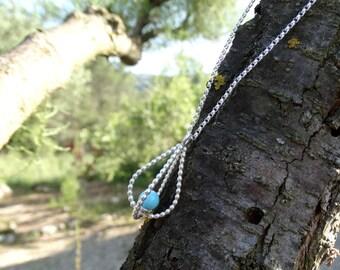 Silver wedding necklace, Drop wedding necklace, Silver bridal necklace, Silver tear necklace, Wedding necklace Bride necklace Wedding jewels