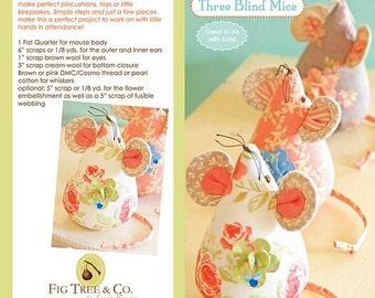 Three Blind Mice, FTQ #941, Fig Tree Threads pattern