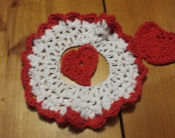 valentine dishcloth and scrubbie set