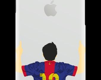 CaseNerd Messi Rubber iPhone Case
