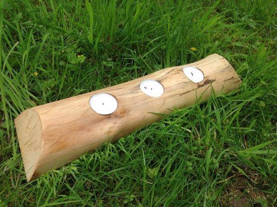 bougeoir en bois naturel 3 photophore photophore tranche 3 de. Black Bedroom Furniture Sets. Home Design Ideas