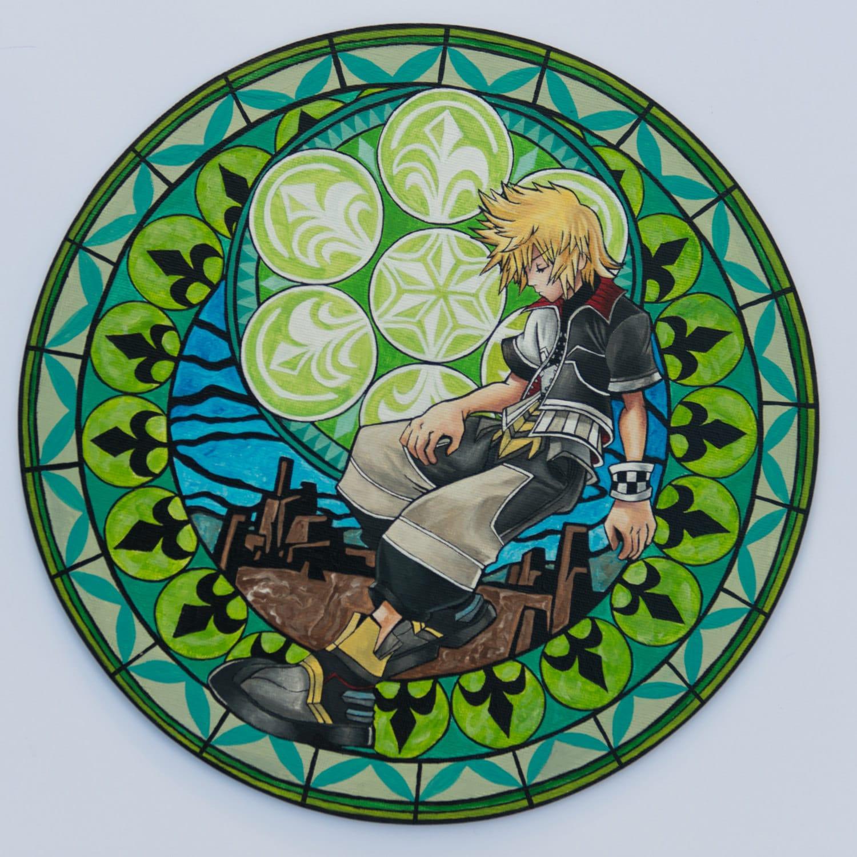 kingdom hearts stained glass ventus roxas disney anime. Black Bedroom Furniture Sets. Home Design Ideas