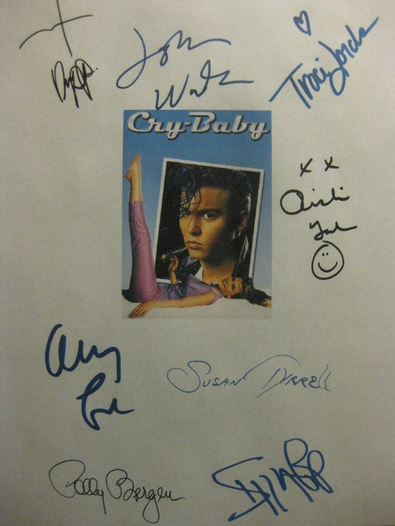 Cry Baby Signed Film Movie Screenplay Script X8 Autograph Johnny Depp Iggy Pop Traci Lords John Waters Ricki Lake Amy Locane Susan Tyrrell