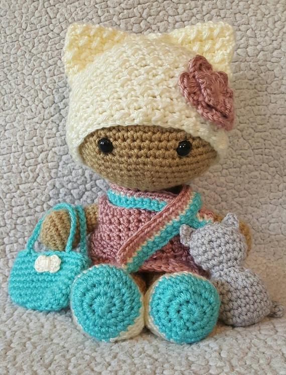 Large Crochet Doll Free Pattern : Crochet Kitty Big Head Doll crochet big head doll crochet