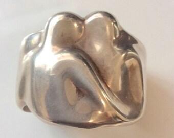 Tiffany & Co. 1982 Sterling Elsa Peretti Gemini Zodiac Cuff Bracelet