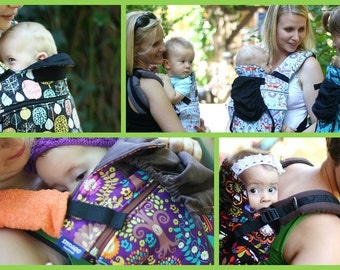 Baby carriers slings, full buckle, Indigo Handmade