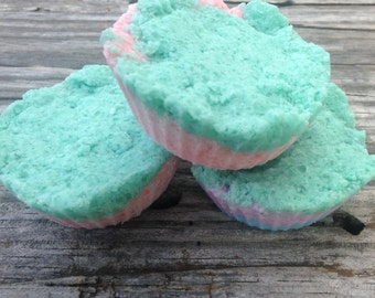 Unicorn poop, aka, beauty is in the eye of the beholder. Congestion relief shower bombs!