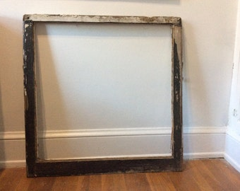 Chippy paint window frame antique project piece vertical succulent garden frame