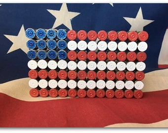 9mm Bullet Shell US Flag