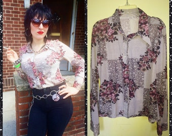 Vintage 70's polyester shirt