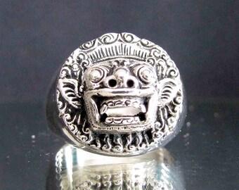 Sterling silver ring Barong Bali - The Spiritual King