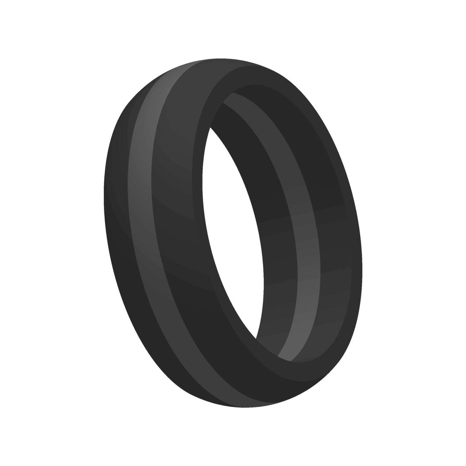 ModernFashionCo flexible wedding ring Mens Black w Gray Line Silicone Wedding Engagement Ring Band Flexible Hypoallergenic Modern Sports Athletic Mans Jewelry FAST FREE SHIPPING