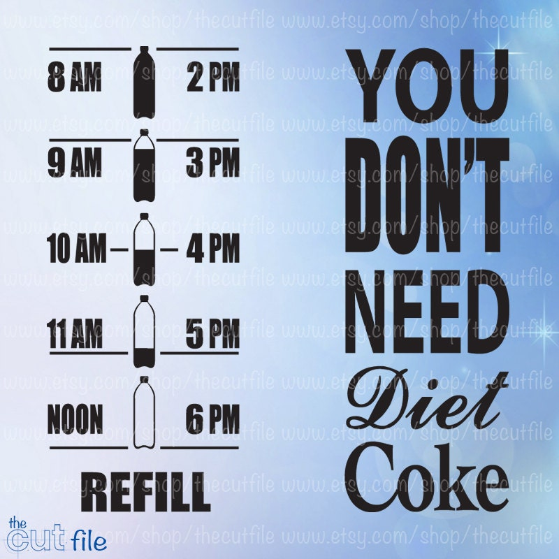 Water Motivation Svg You Don't Need Diet Coke Water