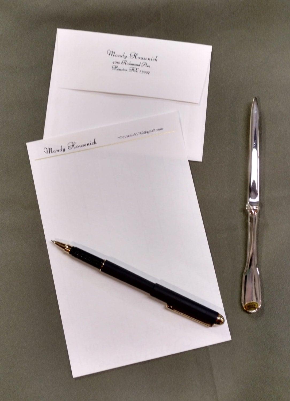 Custom handwriting paper embosser gift set