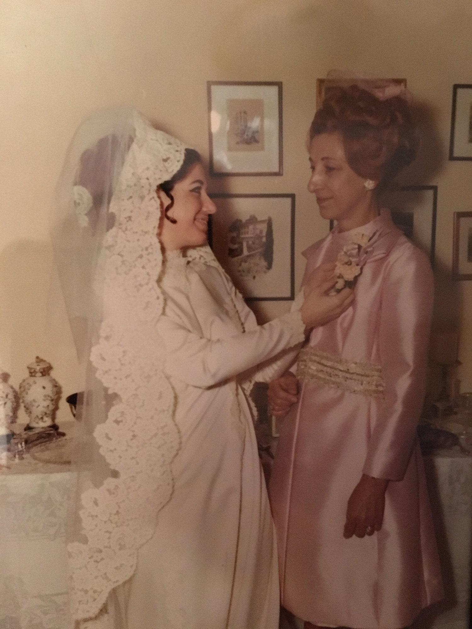 My Yaya, Helen Hadges (on the right), when she was 49 in 1969 at my parents wedding. This was 10 years after her diagnosis.
