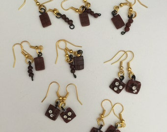 Chocolate { Earrings / Brincos }