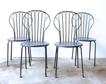 Black Wrought Iron Chairs (set/4)