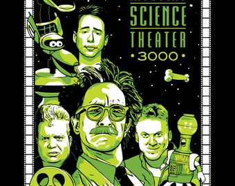 MST3k Art Print Poster - Mystery Science Theater 3000 Illustrated Characters