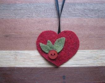 felt valentine ornament
