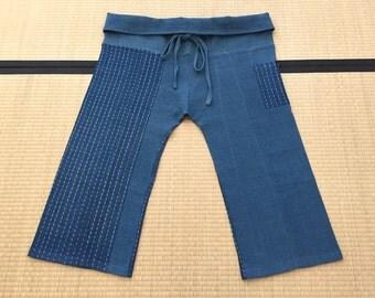Free Size Indigo Thai Fisherman Pants - TPML13