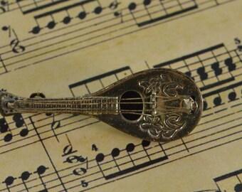 Bouzouki Pin / Brooch Sterling Silver 3.5g