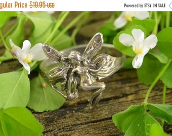 1 Day Sale Art Nouveau Fairy Ring Size 8 3.1g Sterling Silver
