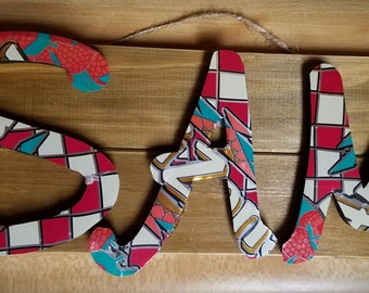 soda can letters, small