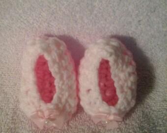 Newborn 0-3 month crochet baby girl shoes