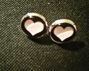 Chip earrings heart